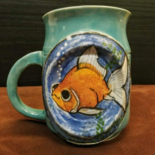 Cartoon Fat Goldfish Mini-Mug