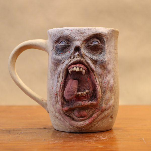 Facial Horror Handmade Stoneware Mugs
