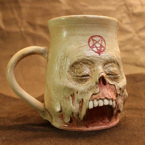 Skin Slippage Pentagram Zombie Mug