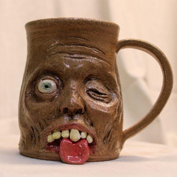 Tongue's Out Handmade One-of-a-kind stoneware mug