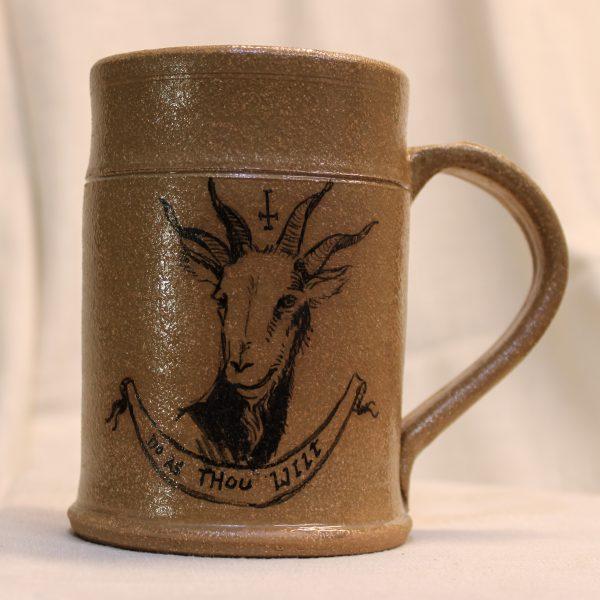 Do as thou wilt painted stoneware mug