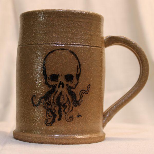 Hail Hydra Cthulhu Painted Stoneware Mug