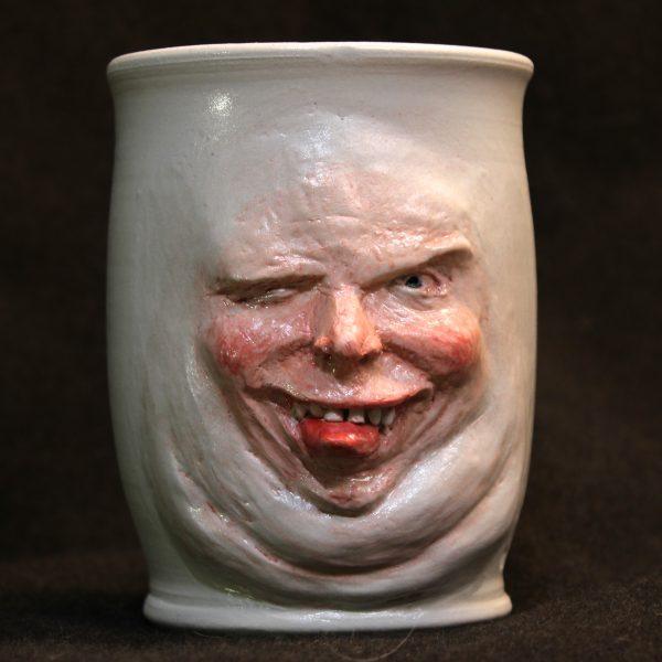 Pottery Face Mug which looks like Willem Dafoe