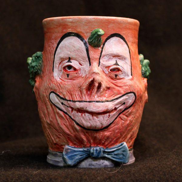 Handmade Creepy Scarred Clown Mug