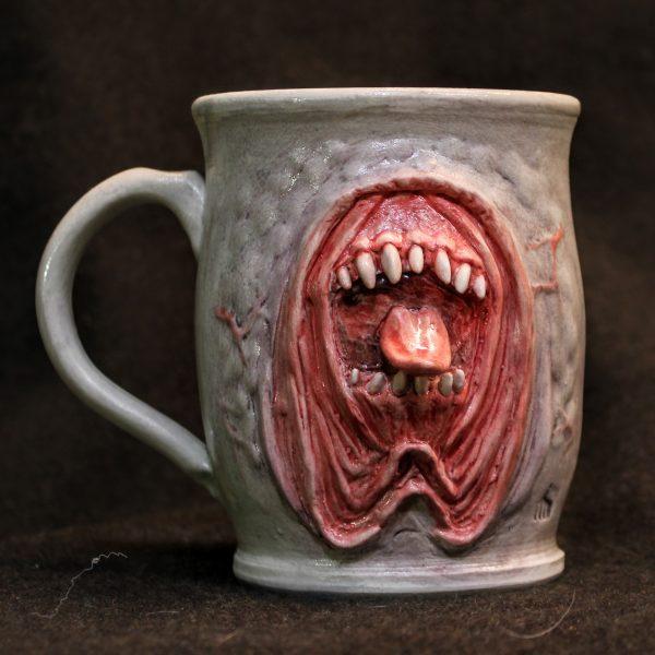 Fangy Droopy Jowls Horror Mug