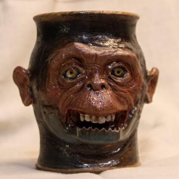 Stoneware Monkey Ape Trap Jaw Tumbler
