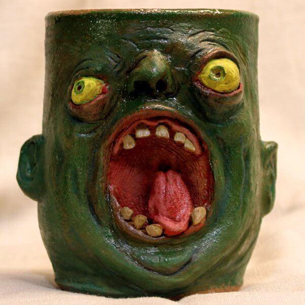 Screaming Green Gene Pottery Tumbler