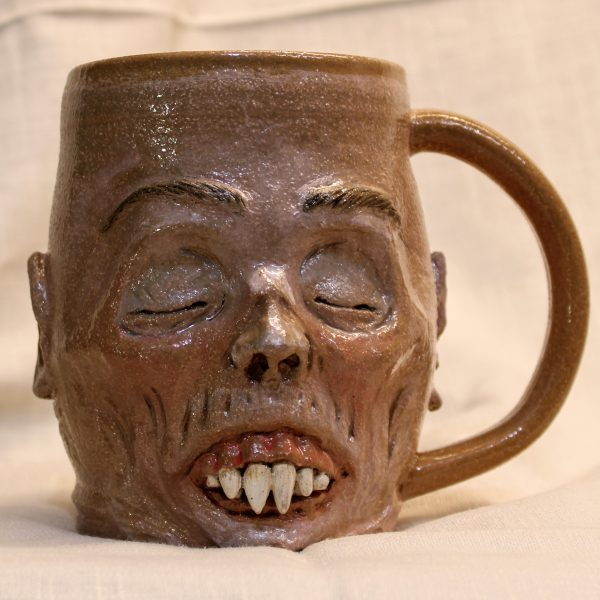 Napping Nosferatu Handmade Pottery Mug