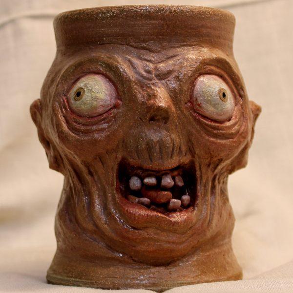 Handmade stoneware Orc Mug Tankard