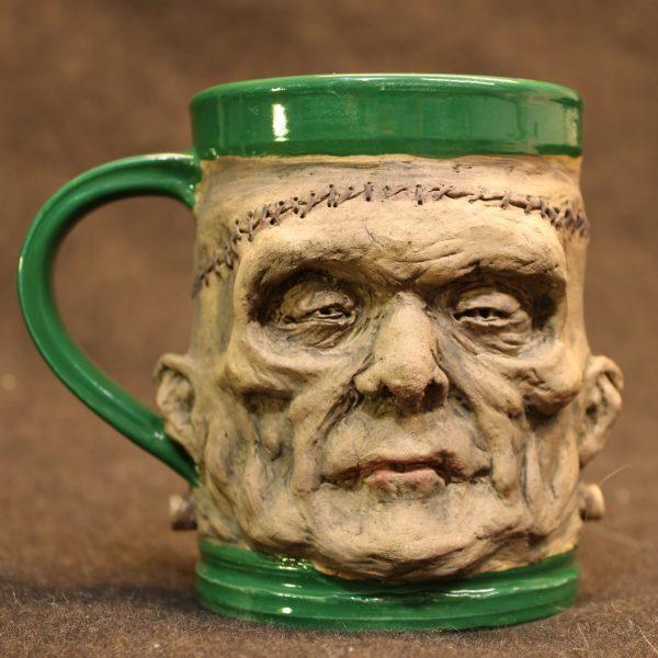 Handcrafted Pottery Frankenstein's Monster Mug