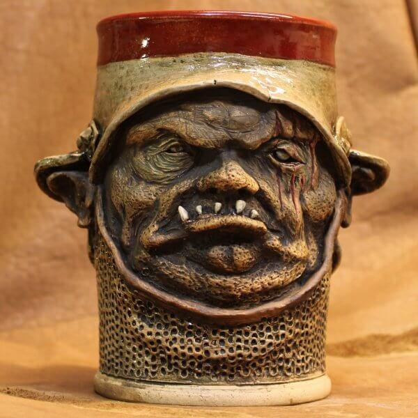 Handmade DND Orc warrior tumbler